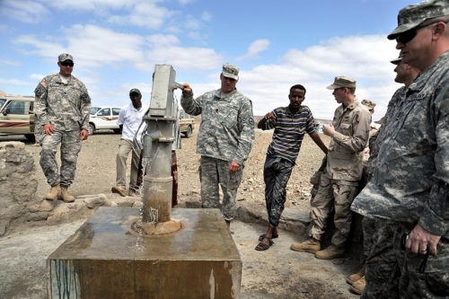 U.S. military checks on Djibouti wells